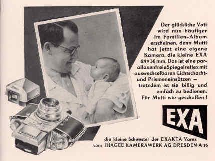 """Werbeanzeige in der Zeitschrift """"Die Fotografie"""" 1953"""