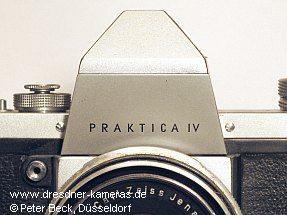 Praktica IV - seltene Variante mit kleinerem und verkürztem Schriftzug