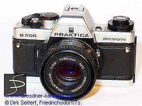 Praktica B 200 chrome with smooth leatherette