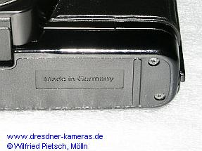 "Praktica BMS (Produktion 1992, #2112922) ""Made in Germany"""