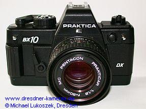 Praktica BX 10 DX mit Pentacon Prakticar 1,8/50