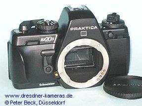 """Praktica BX 20 S in der Japan (Fernost)-Ausführung mit  """"Schneider""""-Schriftzug"""