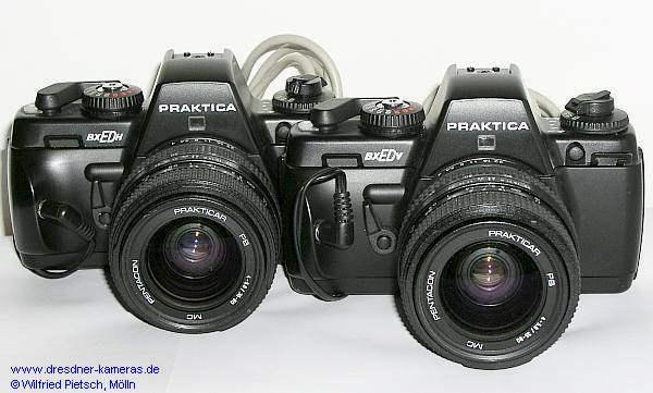 Täterlichtbildkameras für den Erkennungsdienst Praktica BX ED H (Halbformat) und Praktica BX ED V (Vollformat), hier die Versionen mit Vorlaufwerk