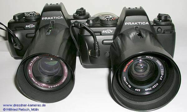 Täterlichtbildkameras für den Erkennungsdienst Praktica BX ED H (Halbformat) und Praktica BX ED V (Vollformat), hier die Versionen ohne Vorlaufwerk