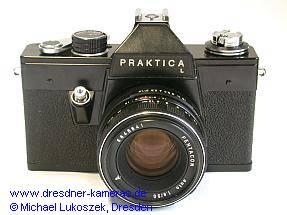 Praktica L (schwarze Version) mit Pentacon auto 1,8/50