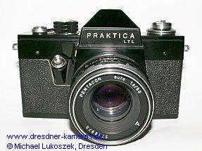Praktica LTL mit Pentacon auto 1,8/50 (schwarze Version ohne Vorlaufwerk)