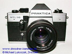 Praktica MTL 50 mit Pentacon auto 1,8/50;