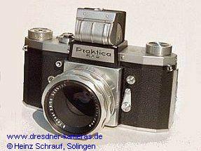 Praktica FX 2-Service-Variante (Vorlaufwerk eingebaut, Blitzbuchsen versetzt)