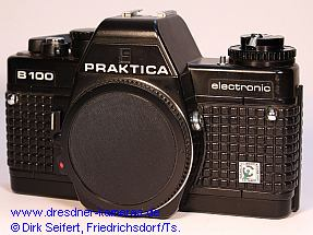 Praktica B 100 with printed label Cattaneo