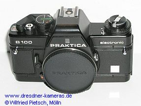 Praktica B 100 with blank label