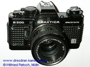 Praktica B 200 with embossed label Cattaneo (1th version with quick-release-lever of metal)