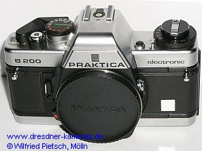 Praktica B 200 chrome with blank label
