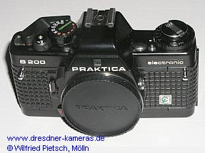 Praktica B 200 with printed label Cattaneo (2nd version with quick-release-lever of plastics)