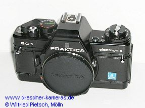 Praktica BC 1 (1st version) with label Pentacon Italia