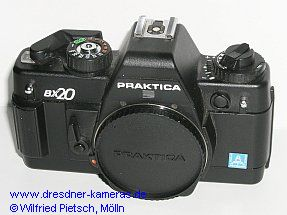 Praktica BX 20 with label Pentacon Italia