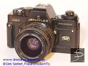 Jenaflex AM-1 (Praktica BC 1, 2nd version, ISO-setting knob and rewind-crank of plastics)