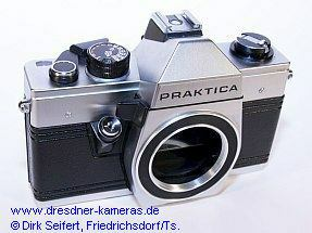 Praktica with blank body-cap for Great Britain