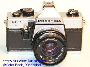 Praktica with MTL 3 engraved (Praktica super TL 1000)