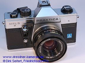 Praktica MTL 5 with label Pentacon italia