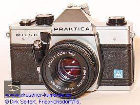 Praktica MTL 5 B with label Pentacon Italia