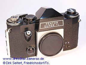 Pentor super TL with black body-cap (Praktica super TL)