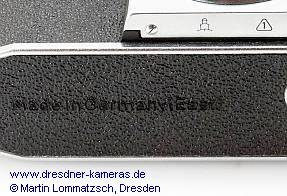"REVUE FX4 (Praktica nova PL I B) Leather-Embossing ""Made in Germany (East)"""
