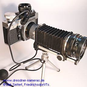 Praktica RTL Astro/Micro Convertible (Praktica VLC 2) - patented pneumatic Mirror-Lockup Unit