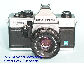 Praktica super TL 1000 with label Pentacon Italia