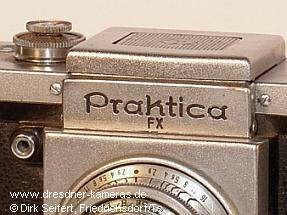 Praktica, FX later engraved and flash sync. retrofitted (Praktica, 1th version wit cast-on strap lugs)