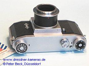 Praktica-IV-photomicrographic-attachment-camera without reflex-mirror and viewfinder