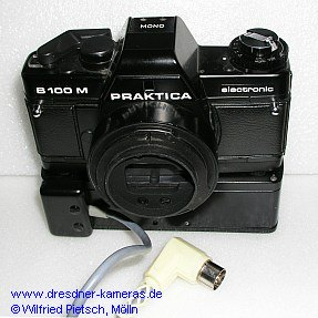 Praktica B 100 M Mono with motor-drive and remote-control-socket