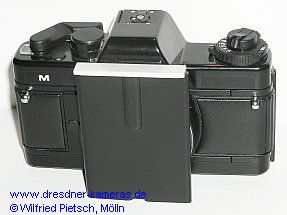 Praktica M (identical in construction with BCA M) with attachment for dedicated microscopes