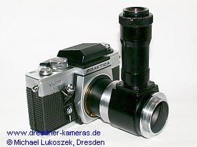 Praktica VLC 3 on photomicrographic equipment (mf) of Carl Zeiss Jena